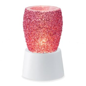Glitter Magenta Mini Warmer With Tabletop Base