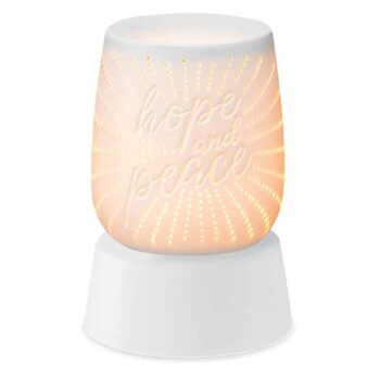 Hope and Peace Mini Scentsy Warmer With Tabletop Base