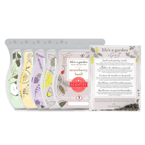 Life's a Garden Scentsy Wax Collection (plus bag & seeds)