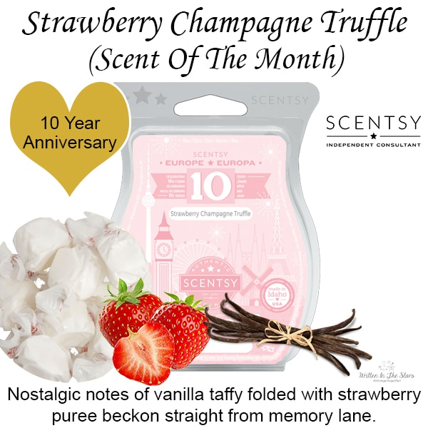 Strawberry Champagne Truffle 10 Year Anniversary