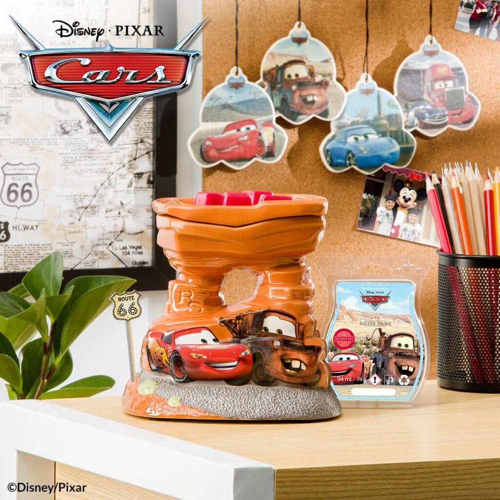 Scentsy Disney Pixar's Cars Wax Warmer & Bar & Scent Circle