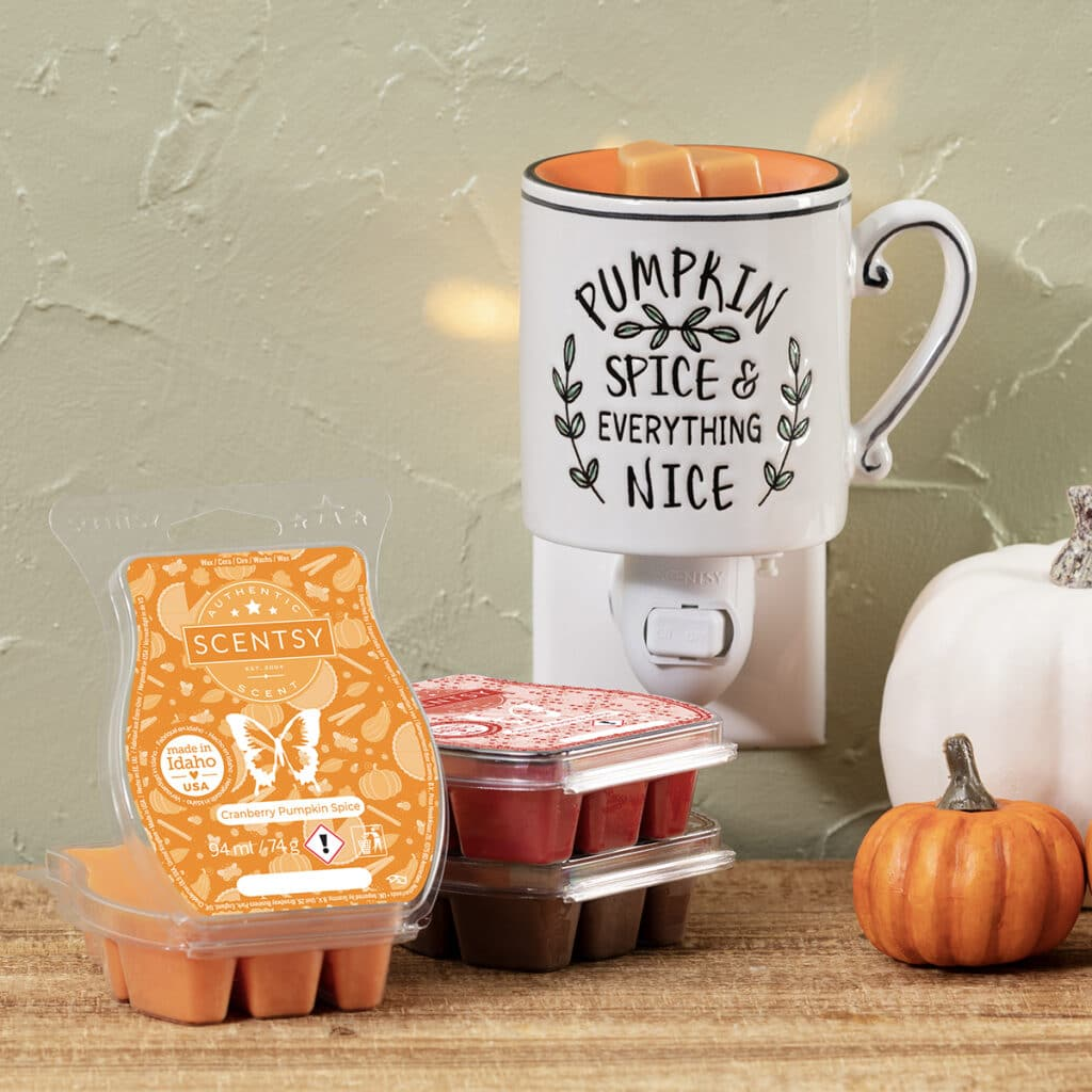 Everything Nice Mini Warmer and Harvest Scentsy Bar 3-Pack