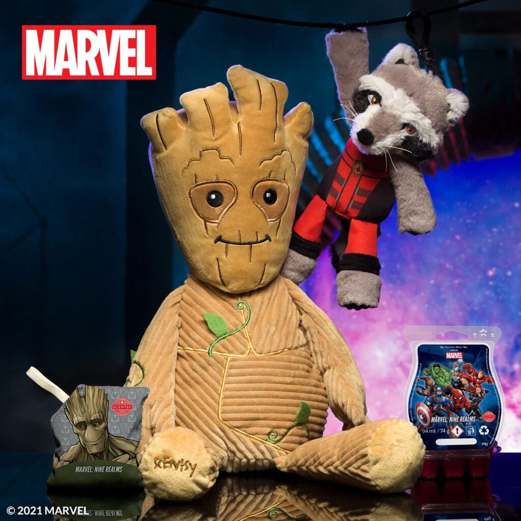 Marvel's Guardians of the Galaxy Groot & Rocket Scentsy Buddies