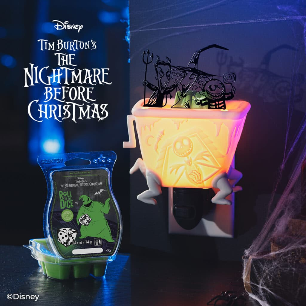 The Nightmare Before Christmas Lock Shock and Barrel Scentsy UK Mini Warmer