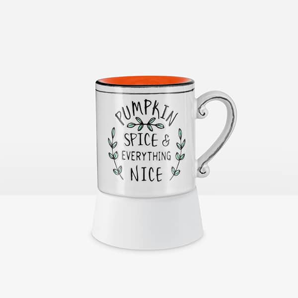 Pumpkin Spice & Everything Nice Scentsy Mini Warmer With Tabletop Base