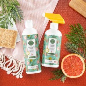 Evergreen & Grapefruit Scentsy Clean Bundle Styled
