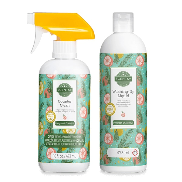 Evergreen & Grapefruit Scentsy Clean Bundle