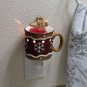 Gingerbread Man Scentsy Plugin Mini Warmer Styled