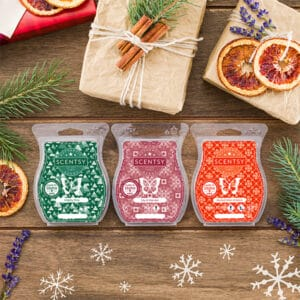 Scentsy Christmas 3 Bar Pack Styled