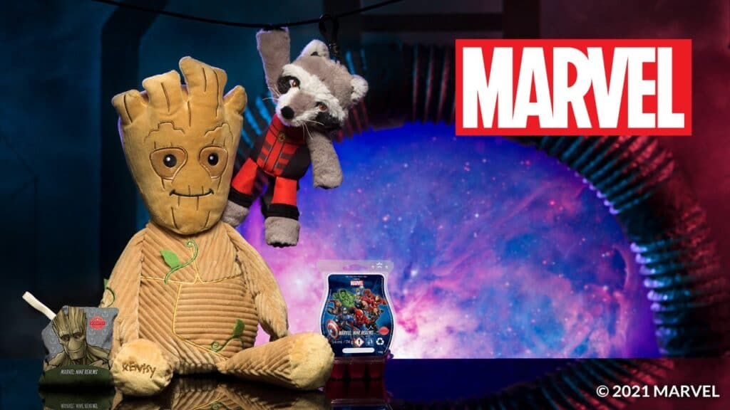 Rocket and Groot Scentsy Soft Toys